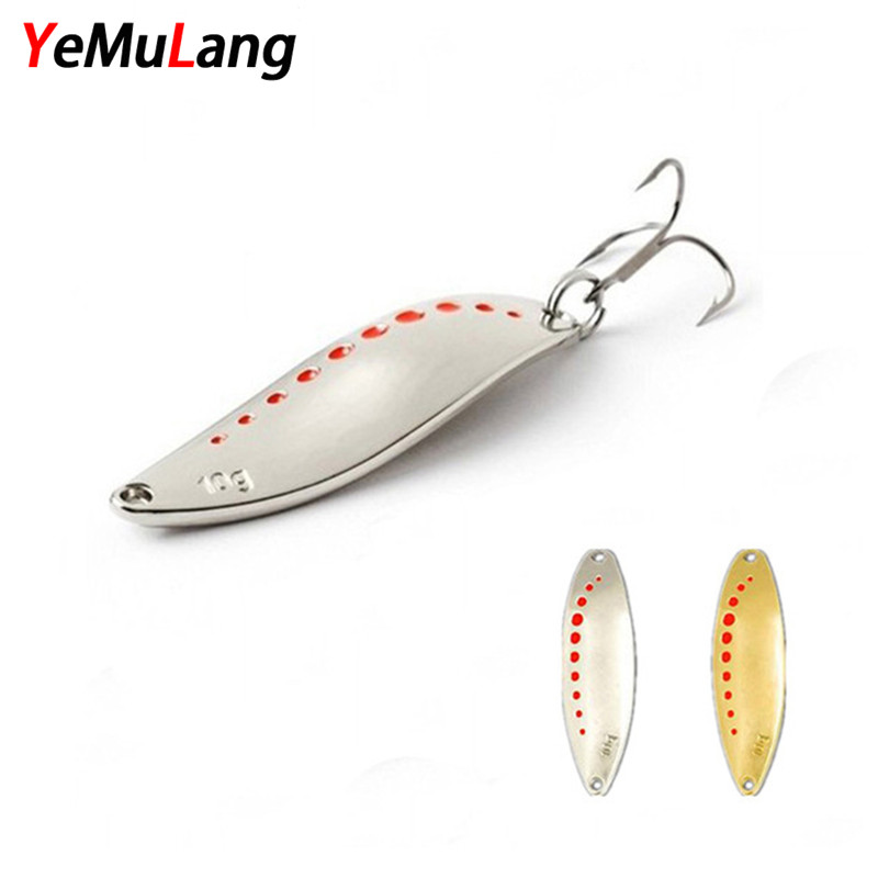 YeMuLang Metal Fishing Lure Spinner Spoon Hard Baits Sequins Noise Paillette with Treble Hook For Fishing 5/10/15/20g BB601