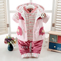 Three Pieces Children's Clothes Set Baby Boy Baby Girl Winter Clothing Cute Animal Elephant Coat+Waistcoat+Pant For Age 0-2T