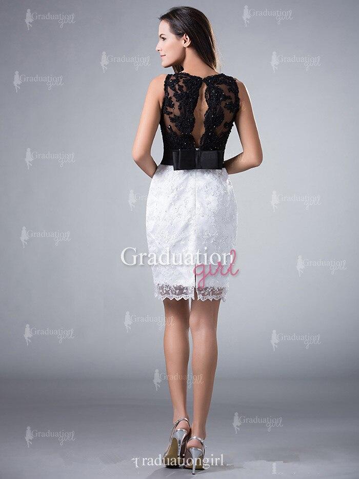Vestidos de encaje negro con blanco