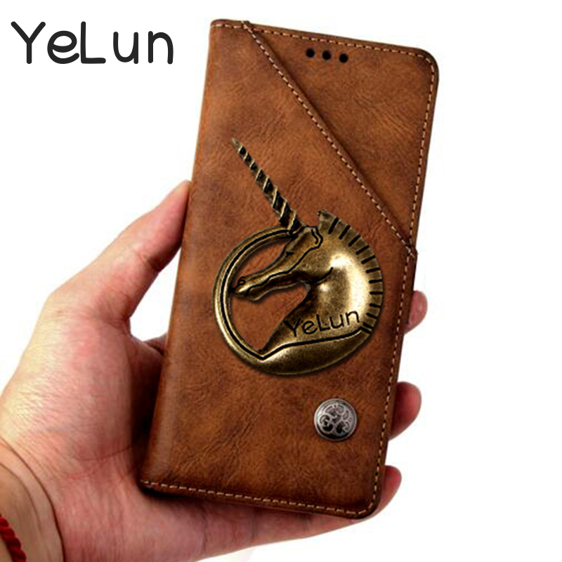 YeLun Case For Vivo X21 V9 Y75 V7 Y79 X20 Y66 X9 Y55 Luxury Wallet Unicorn PU Leather Case Stand Flip Card Hold Phone Cover Bags