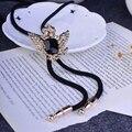 Bolo Tie real de Oro Hecho A Mano Oficial Águila Bolo Bolo Ties Corbatas Para Hombres Estilo Aristocrático Camisa Trajes Corbatas Poirot