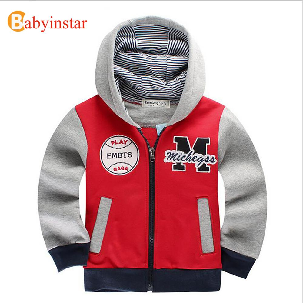 Babyinstar Spring Autumn Children's Coat Patchwork Casual Hoodies Boys Sport Sweatshirts 2017 New Fashion Style Kids Jacket Coat