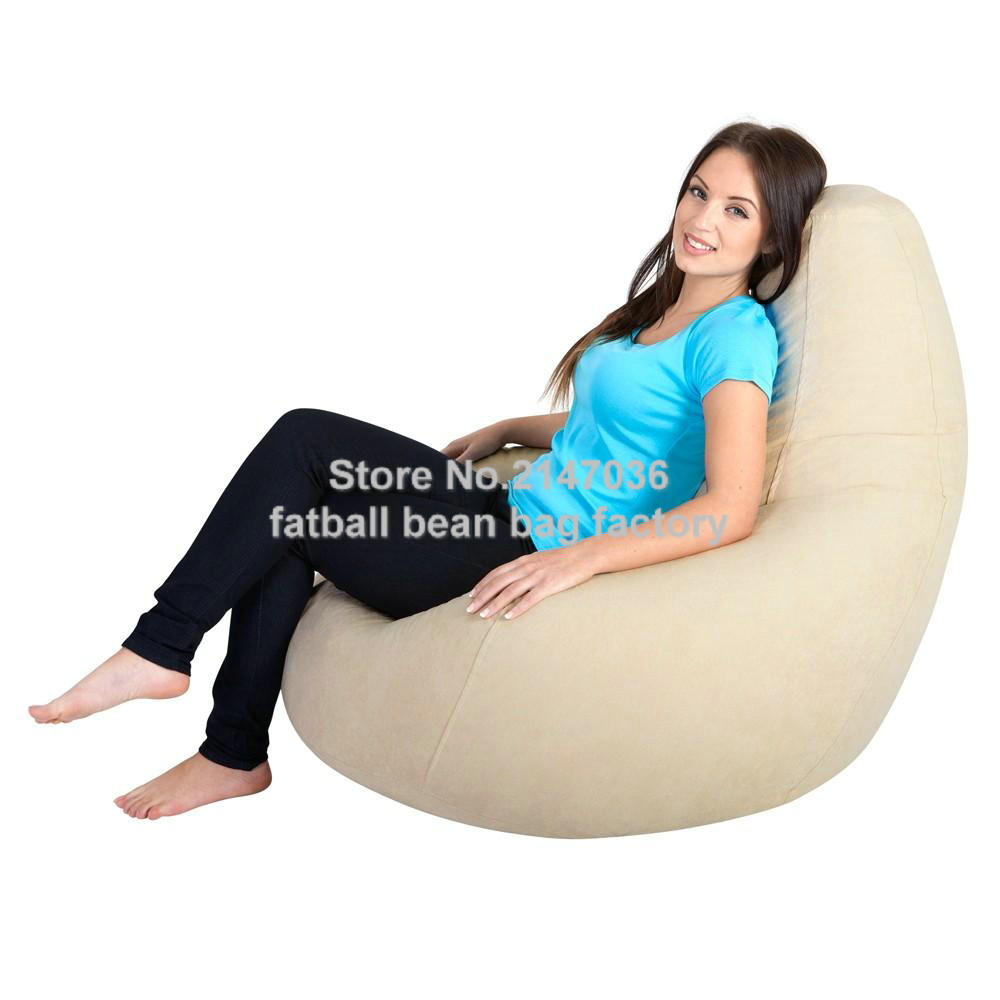 hot bid products indoor living room bean bag furniture bedroom beanbag sofa in nylon waterproof fabric