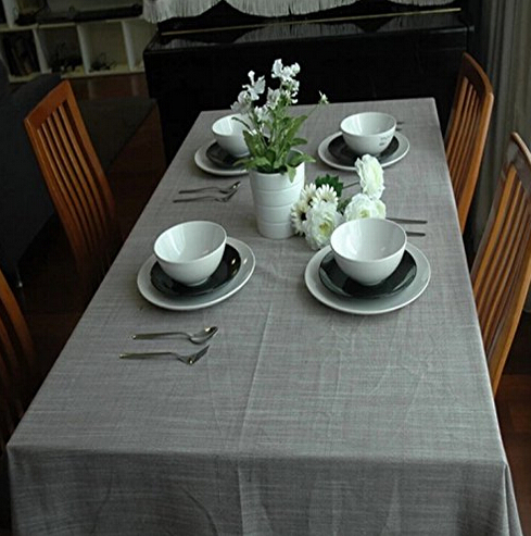 Beau Free Shipping Solid Color Table Linen Grey Printed Tablecloth Rectangle  Tablecloth Kitchen Table Cover Dining Table