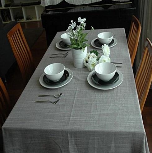 Trasporto libero da tavola di colore solido grigio stampato tovaglia ...
