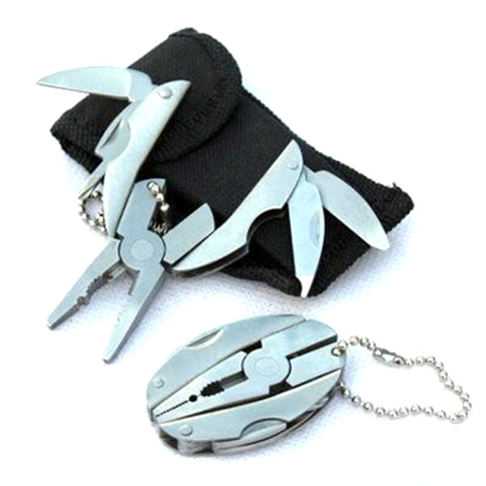 Portable Multi-function Multi-purpose Folding Plier Mini Key-chain Screwdriver Pocket Outdoor Tools