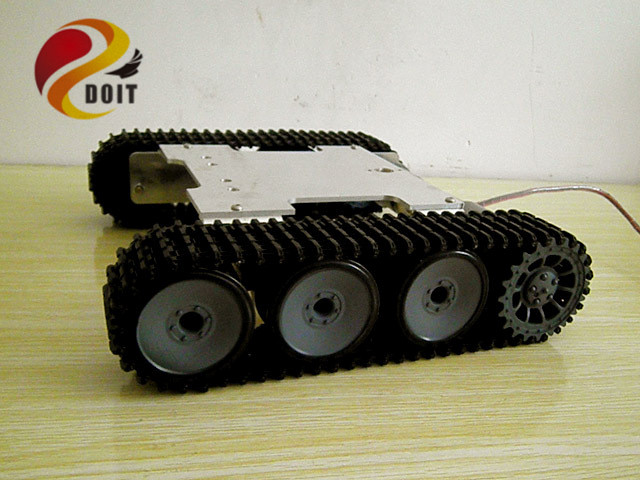 RC Tank Chassis Crawler Intelligent Barrowload remote control kit Tractor Obstacle Caterpillar Wall-e Infrared Ultrasonic Patrol