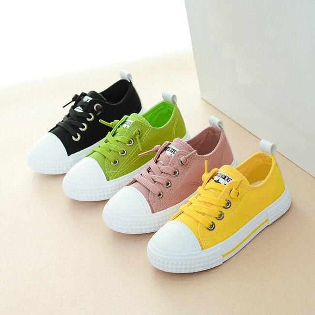 d6575859 Мальчики девочки дети зеленый, желтый, розовый черные кроссовки обувь для подростков  девочек школа плюс