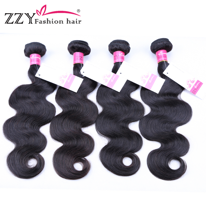 ZZY Fashion hair Brazilian Body Wave Hair Weave Bundles 100% Human Hair Extensions Free Shipping