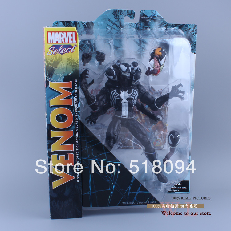ФОТО Free Shipping DST Marvel Select The Amazing Spider-man 2 Venom PVC Action Figure Collcetion Model Toy 21cm MVFG125