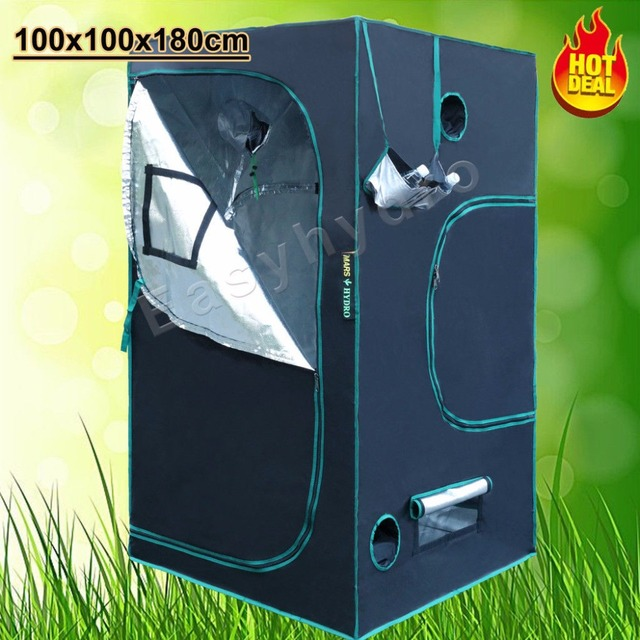 Mars Hydro Reflective Mylar Grow Tent 1680D 100x100x180cm Growing Tent for Plants Grow Kit ( : reflective tent - memphite.com