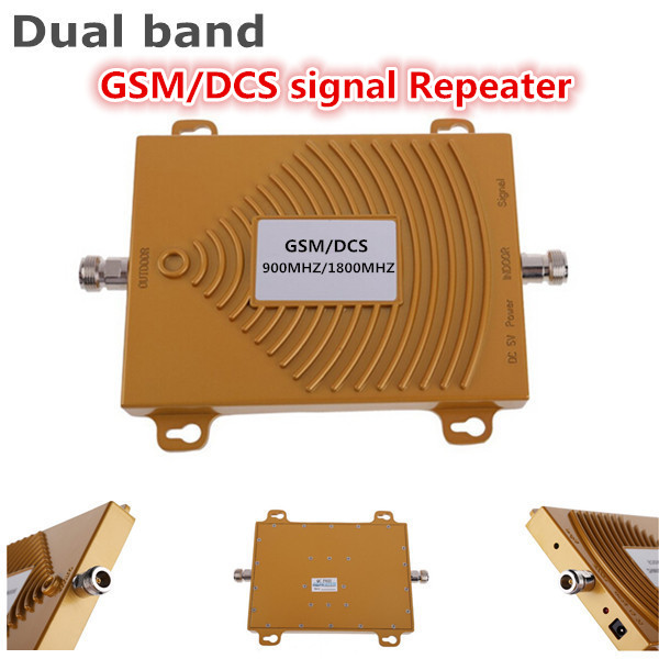 GSM / DCS 900 / 1800MHZ Booster Dual Band Signal Booster Amplifier RF Repeater Kit For Mobile Phone GSM Signal Booster Repeater