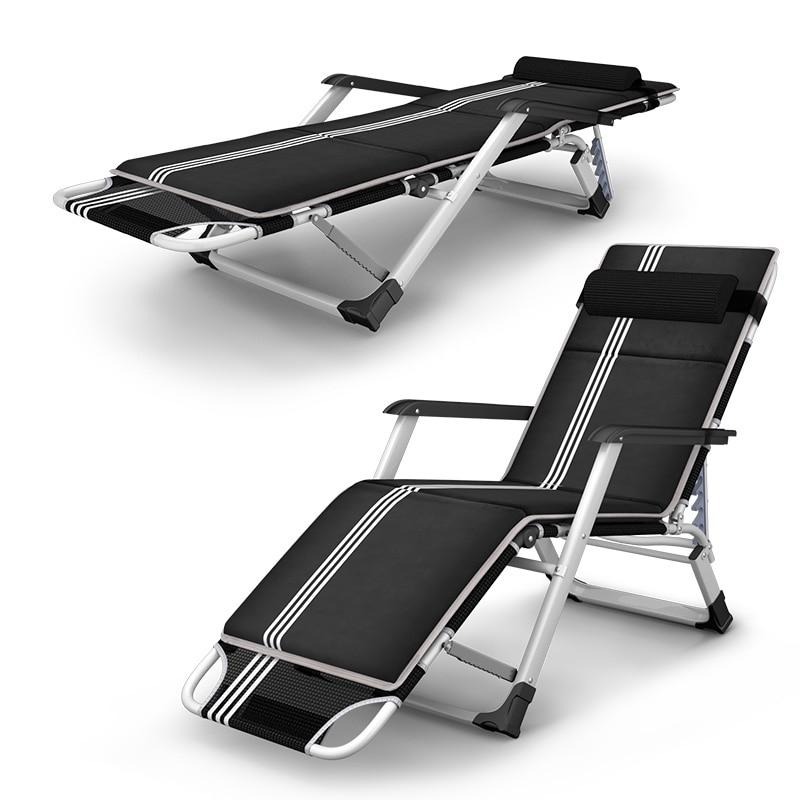 US $148.19 22% OFF|Outdoor Folding Reclining Chair SittingLaying Deck Chair Sun Lounger Beach Chair Aluminium Garden Nap Couch With Cotton
