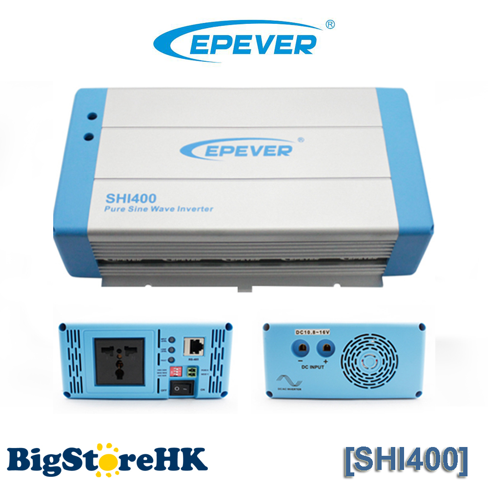 400W EPever Pure Sine Wave Inverter 24VDC to 220VAC Solar Power Inverter 1500w 24vdc to 220vac pure sine wave inverter with 10a ac charge for solar panel