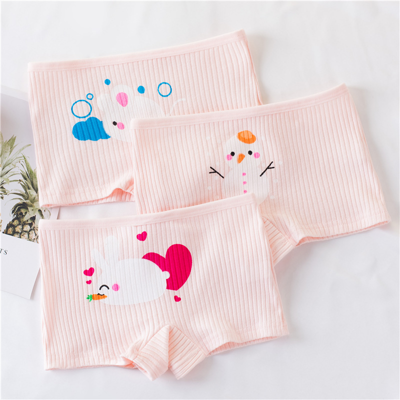 High Quality 3Pcs/Lot Candy Colors Girls Boxer Breathable Cotton Material Kids Girls Underwear for Baby Panties Children's Cloth