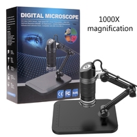 1000X USB 8 LED Digital Microscope Camera Endoscope with Universal Bracket Stand 831F