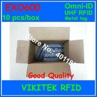 Omni-ID Exo 600 UHF RFID metal etiketi 10 adet kutu 860-940 MHZ 915 M EPC C1G2 ISO18000-6C EXO600 depo lojistik perakende kullanarak