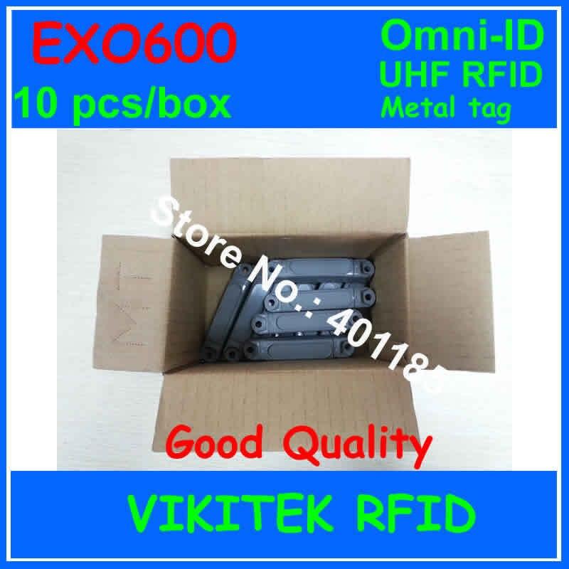 Omni-ID Exo 600 UHF RFID metal tag 10 pcs box 860-940MHZ 915M EPC C1G2 ISO18000-6C EXO600 warehouse logistics retail using ...