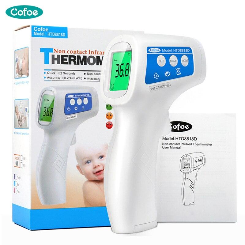 Cofoe Infrarot Stirn Digital Thermometer Tragbare Nicht-kontaktieren Termometro Pistole Baby/Erwachsene Körper Temperatur Messung Gerät