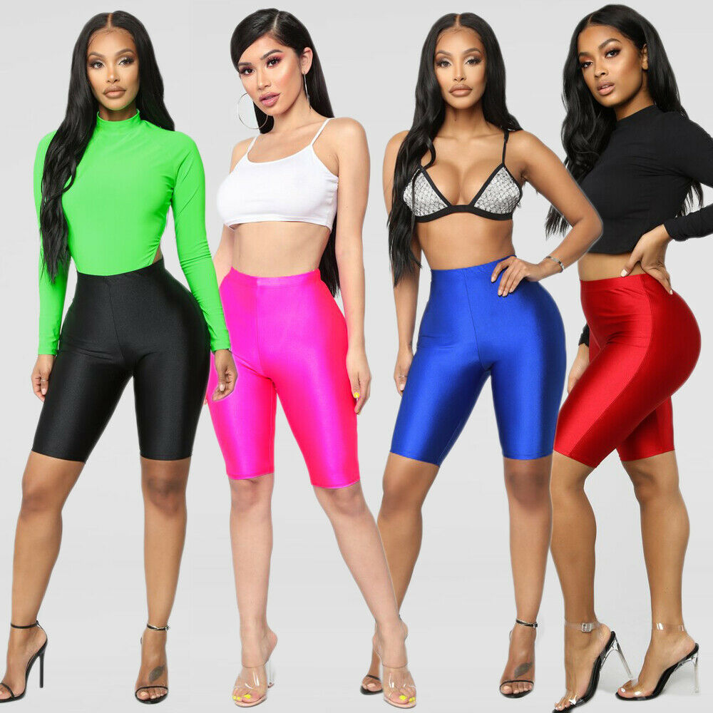 2019 Women Cycling Shorts Dancing Gym Biker Slim Active Sports Solid Sexy Skinny 2019 New Summer G0711