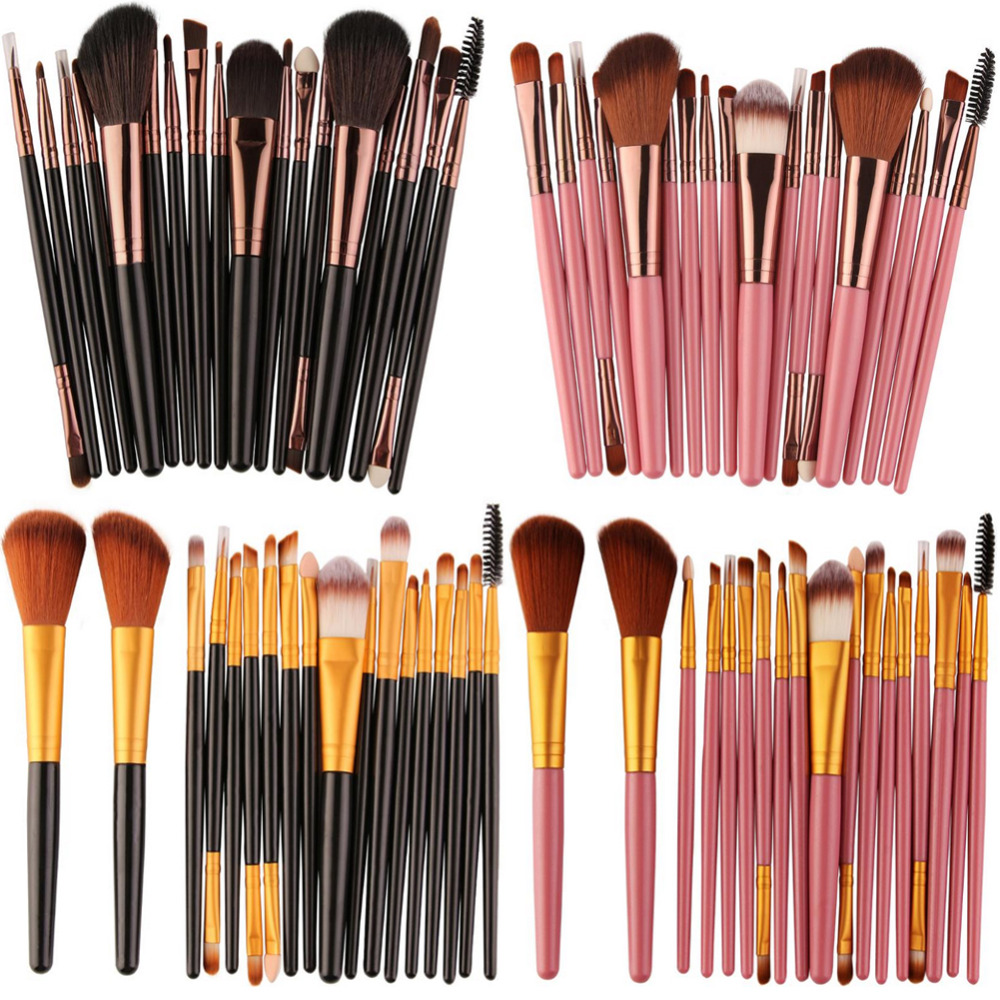 Pro 18pcs/Kit Makeup Brushes Set Eyeshadow Powder Eyeliner Eyelash Lip Foundation Power Cosmetic Beauty MakeUp Brush Tools new 32 pcs makeup brush set powder foundation eyeshadow eyeliner lip cosmetic brushes kit beauty tools fm88