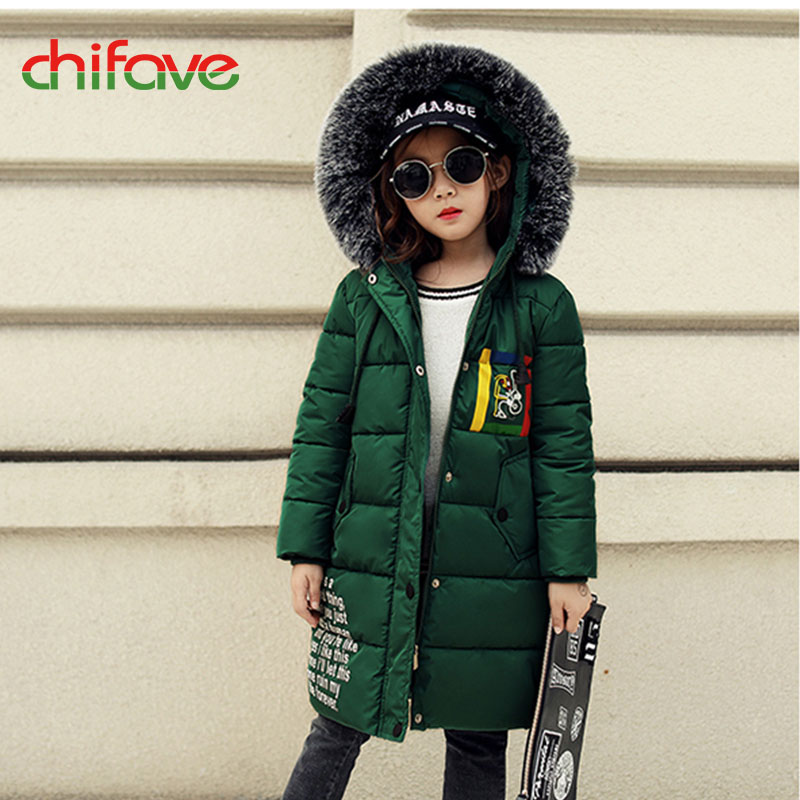 chifave New Winter Coats Baby Girls Boys New Hooded Fur Collar Long Warm Kids Parkas Children Girls Boys Jacket Fashion 2017 2017 new baby girls boys winter coats jacket children down outerwear warm thick outdoor kids fur collar snow proof coat parkas