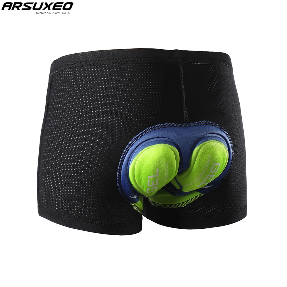 ARSUXEO Cycling Underwear MTB Mountain Bike Shorts 5D Gel Padded Compression cycling shorts for Men and Women 001B oxygen winner w130