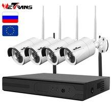 Wetrans CCTV камера системы беспроводной домашней безопасности IP Wi Fi NVR комплект товары теле и видеонаблюдения 1080 P HDD водонепрони