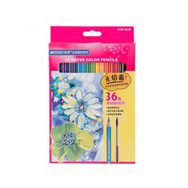MARCO 4120 professional water soluble painting color lead 24 color 36 color students children's brush Mark color pencil