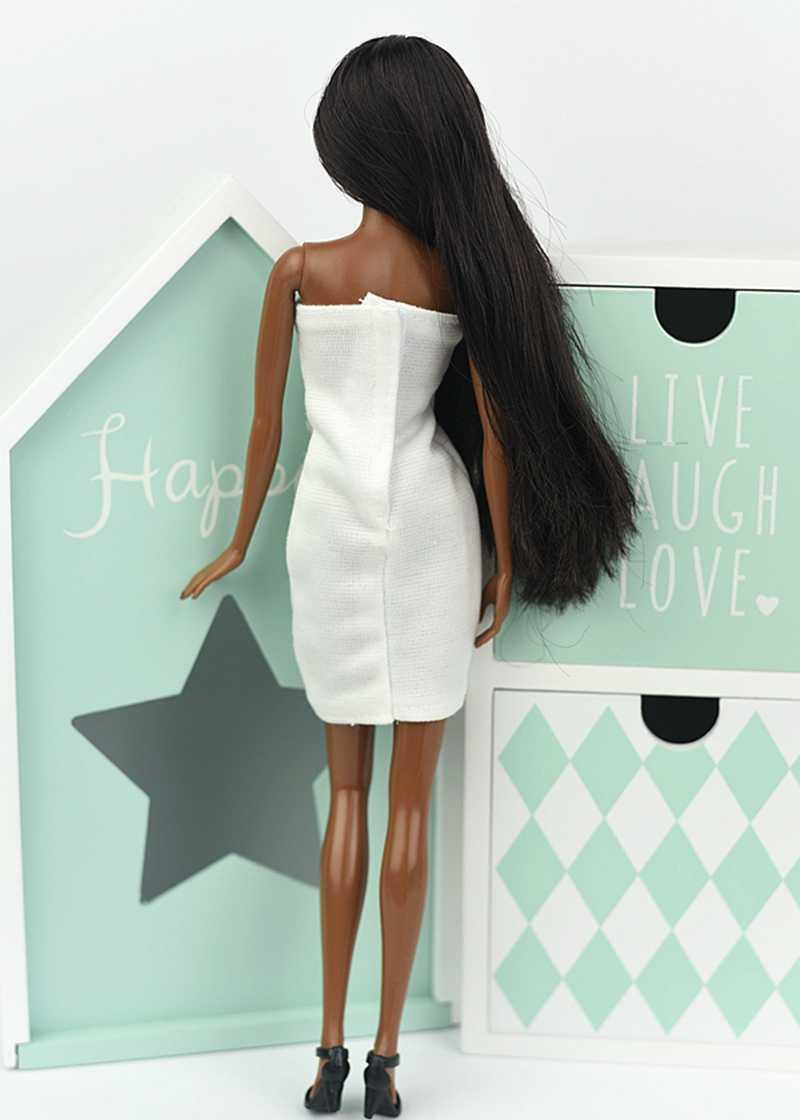 f55d75f704 ... Vestido blanco Sexy de una pieza 1 6 para muñeca Barbie vestidos de noche  Vestido