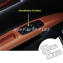 Автомобильная дверь ABS подлокотник окно переключатель крышка 4 шт. для Maserati Ghibli 2014-2018