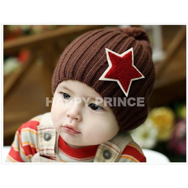 637b7da5eb4 Wool Kids Hat Star Children Stocking Hats Infant Cap Beanie Boys Winter Caps  Child Bucket Bonet Crochet