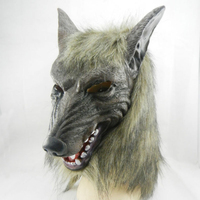 Nova lobo máscara assustador Halloween Costume Fur Mane Latex Realistic diabo Horror máscaras Masquerade adereços Cosplay