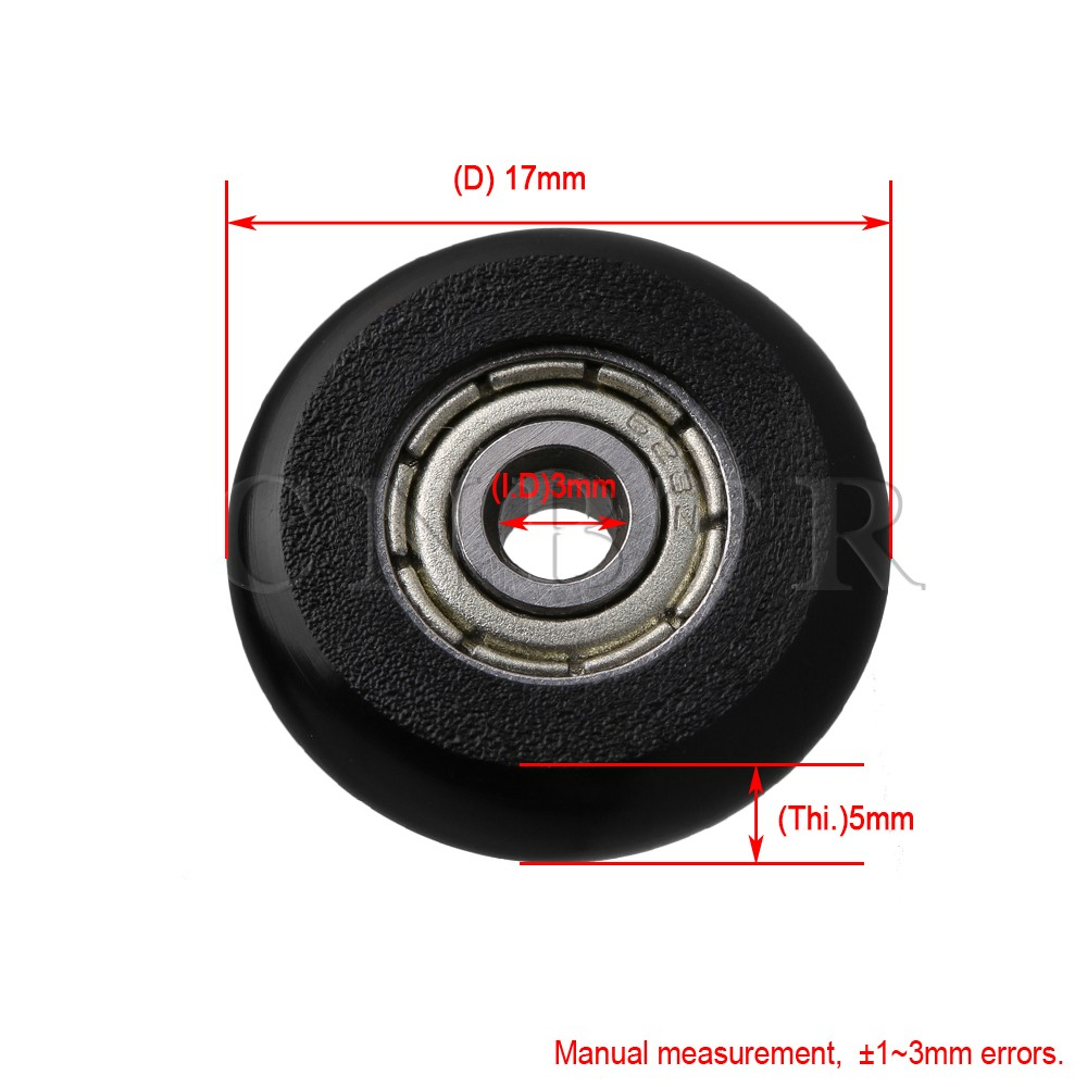 5*24*7mm White POM Coated Tire Wheel Arc Ball Bearing for Furniture Pulley 4Pcs