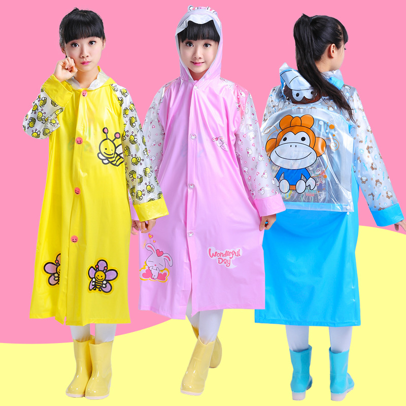 Collection Here Children Poncho Raincoat Kids Girl Cloak