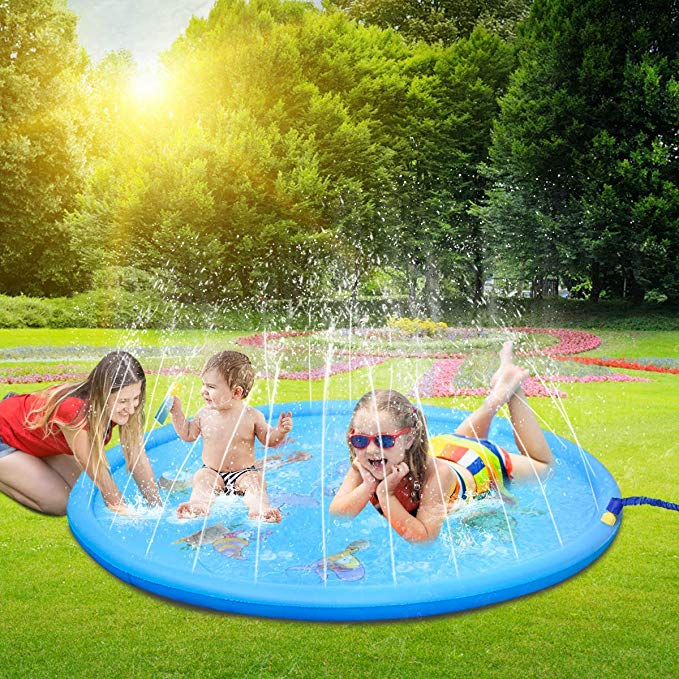 Summer Outdoor PVC Inflatable Spray Water Cushion Toys For Children's Baby Play Water Mat Games Beach Pad Lawn Sprinkler Pool