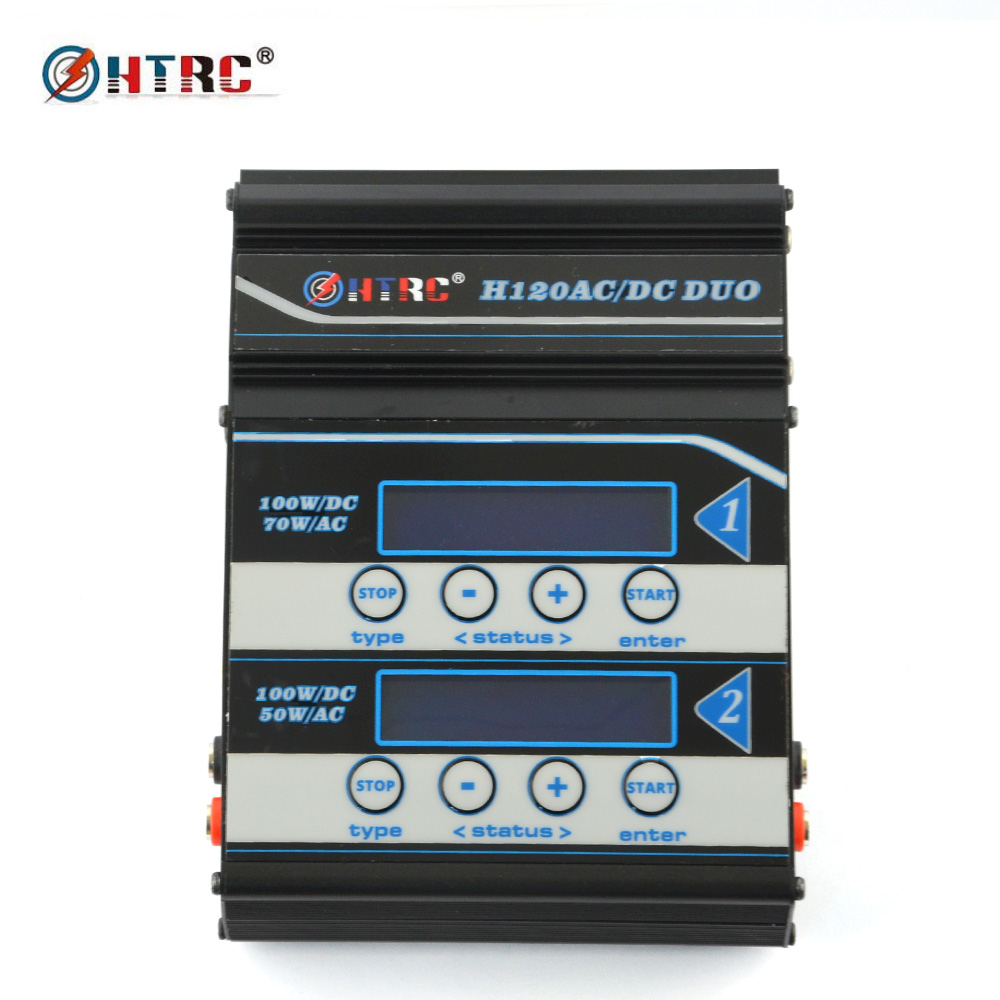 HTRC H120 AC 50W 70W DC 100W 2 Double Output 10A RC Balance Charger Discharger for