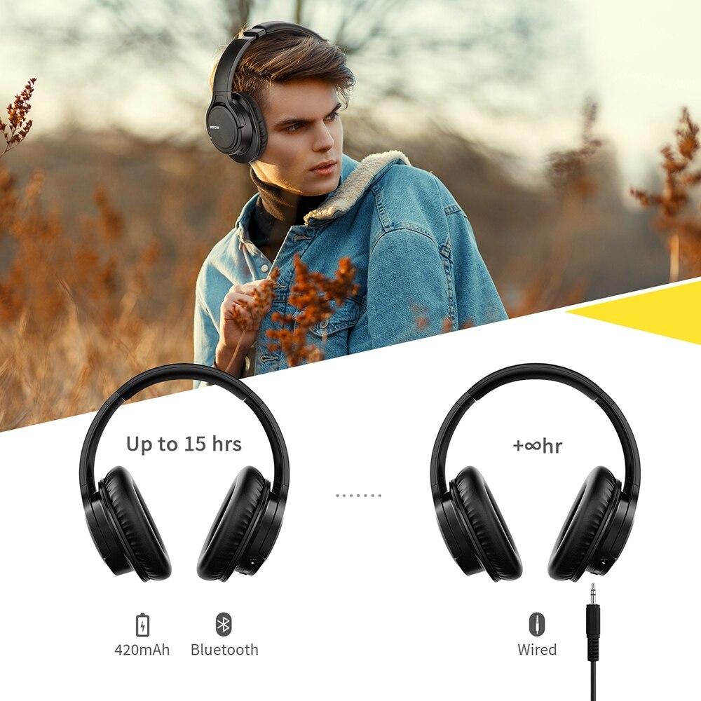 Original Mpow H7 Plus Bluetooth casque sans fil écouteurs Aptx casque avec 13 heures de temps de jeu pour iPhone X Xiaomi Huawei - 3