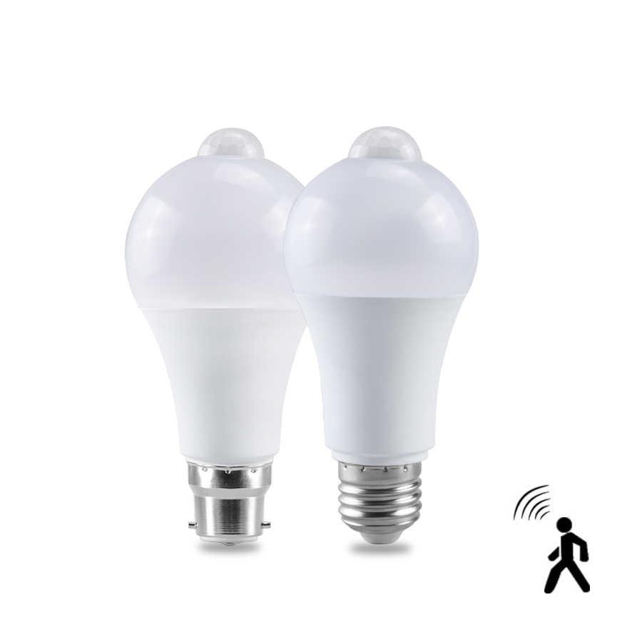 Smart PIR Motion Sensor LED Lamp Night Light 12W 18W E27 B22 220V 110V Sensor Light Induction Bulb Home Stair Hallway Night Lamp