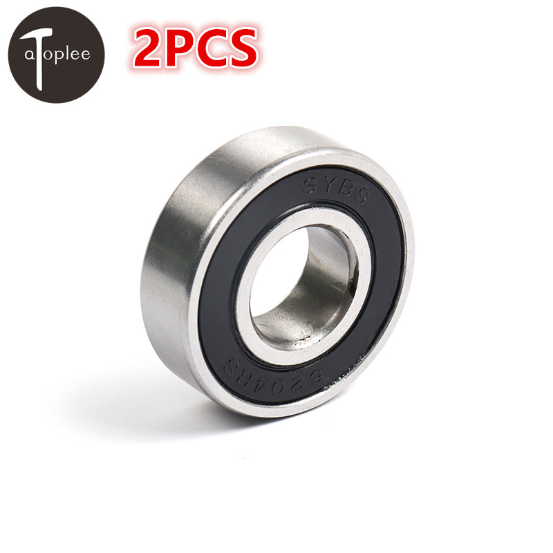 2PCS SYBS Bearing 6200/6201/6202/6203/6204-2RS 10/12/15/17/20mm Low Speed Ball Bearings For Model Toys Furniture Accessories water pump 6202 63 1200 6202 63 1401 for 4d95s engine forklift