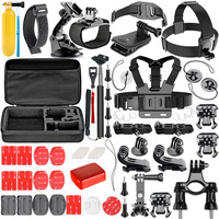 Neewer 57 in 1 Action Camera Accessory Kit for GoPro Hero Session/5 Hero 1 2 3 3+ 4 5 6 SJ4000 5000 6000 DBPOWER AKASO VicTsing