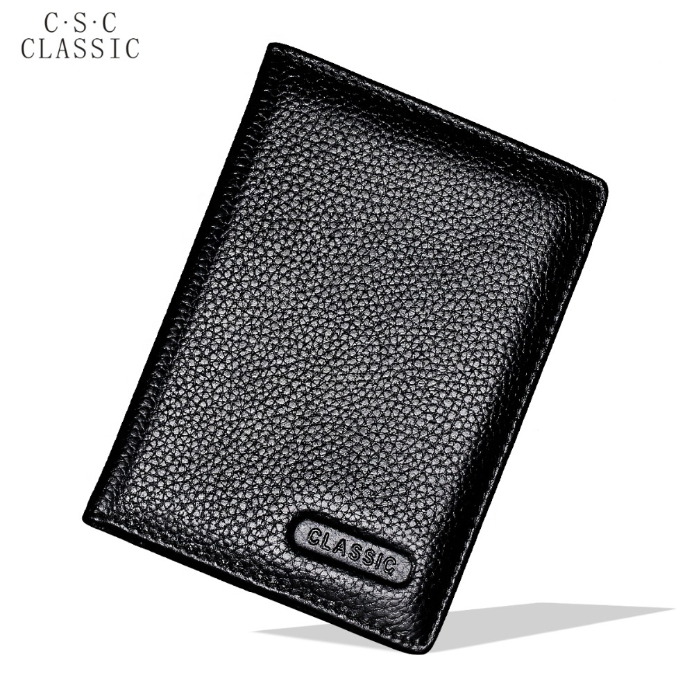Black Real Cowhide Geniune Leather Passport Cover Holder Porta Pasaporte Postcards Passport Case Travel Card Wallet Car Covers