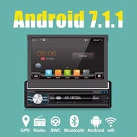 7Universal 1din Quad Core Car DVD player GPS Navigation Wifi BT autoRadio 2GB RAM 16GB ROM 4G SWC RDS OBD2 DAB CD