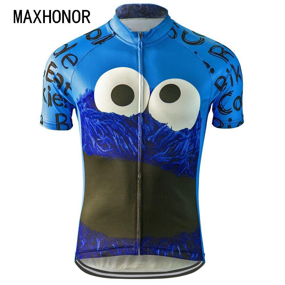 Prix pour Hommes cyclisme jersey pro équipe bleu maillot ciclismo ropa bici de la vtt vélo jersey vélo clothing bande dessinée drôle jersey