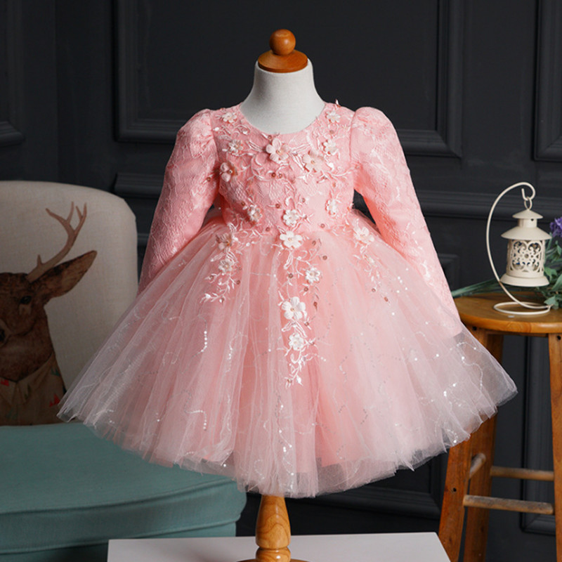 Princess Girls Dress For Wedding Flower Girl Dresses Gown Birthday Outfits Baby Children Clothes Ceremonies Dress summer 2017 new girl dress baby princess dresses flower girls dresses for party and wedding kids children clothing 4 6 8 10 year