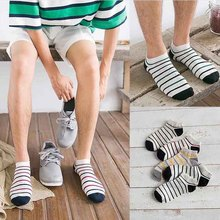 5 Pair Men's Socks Classic stripe Brief Short tube sock Low Cut No Show Boat Slippers Shallow Mouth Asakuchi Socks free shipping
