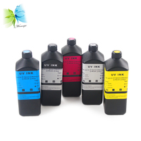 Winnerjet 5 colors x 1000ml uv inkjet printing Ink For Epson L800 L801 L805 L1800 L300 flatbed printer led uv ink