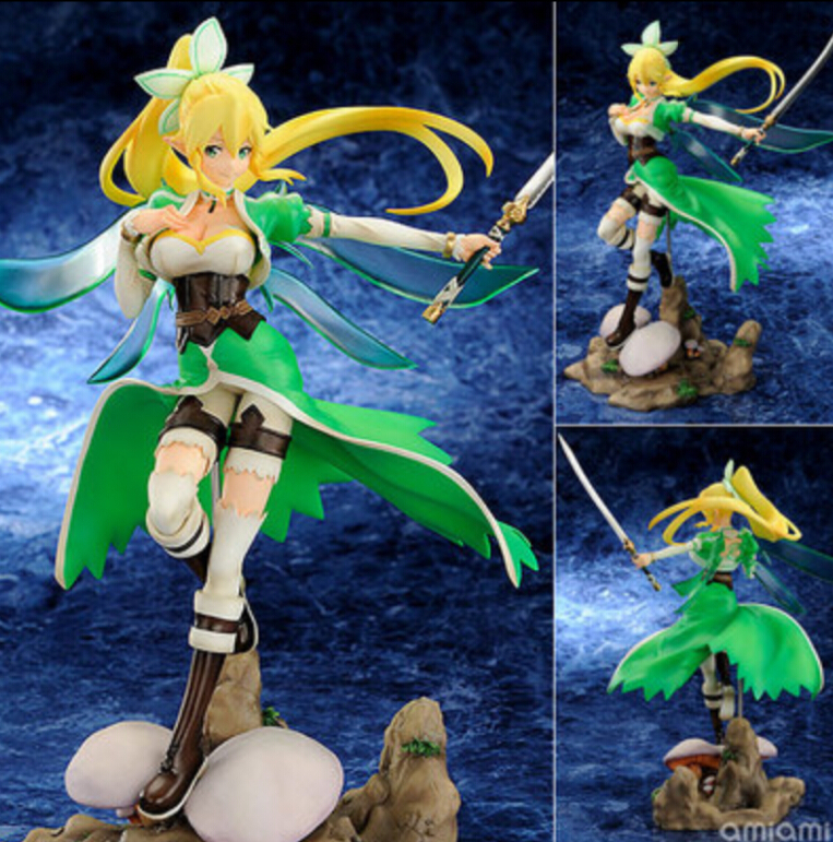 Hot Sale 25cm Anime Sword Art Online Fairy Dance Leafa 1/8 PVC Action Figure Model Collection Kids Toy Men Christmas Dolls Gift nendoroid anime sword art online ii sao asada shino q version pvc action figure collection model toy christmas gifts 10cm