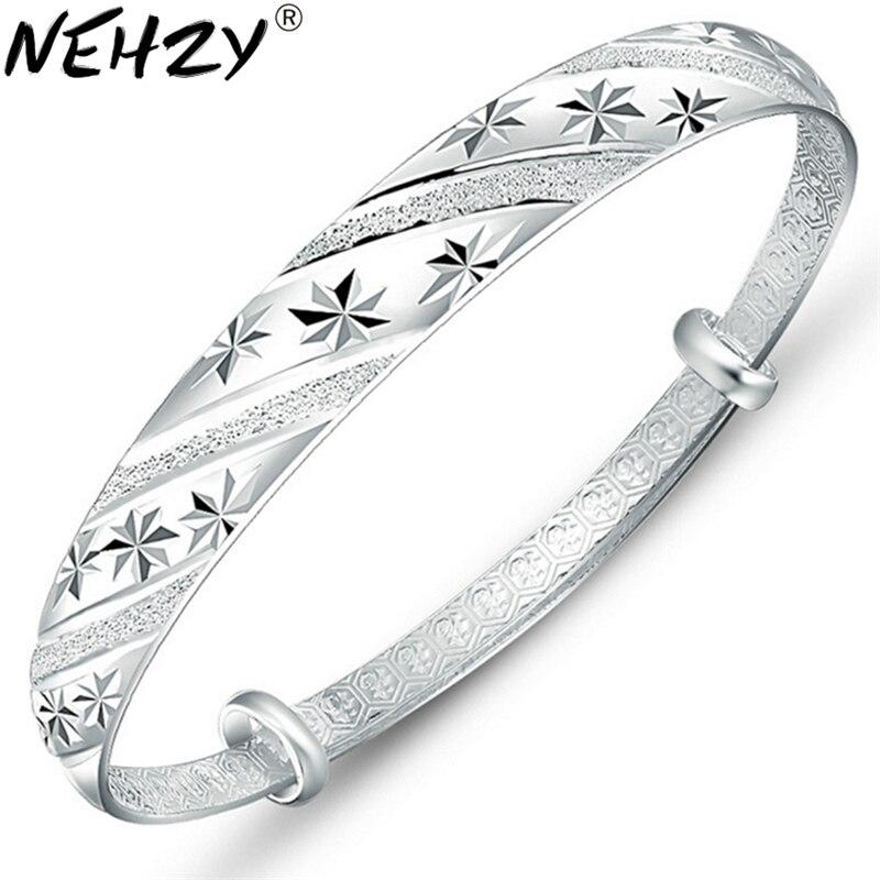 Модные Серебряные украшения метеорный поток раздвижные кольцо 999 женские модели прекрасно браслет оптом женские ювелирные изделия