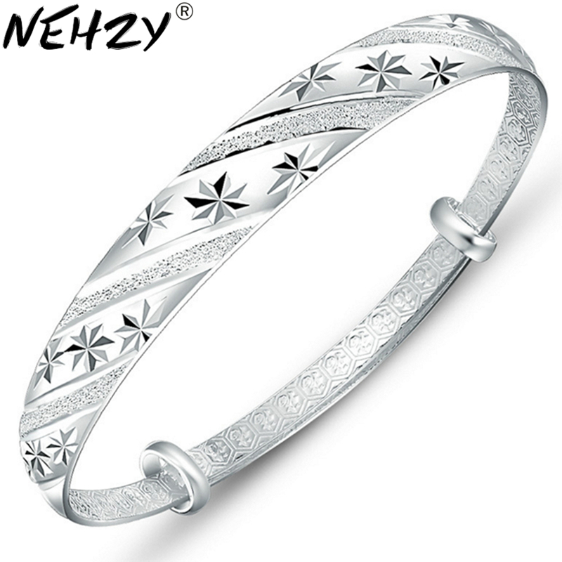 Fashion silver jewelry meteor shower sliding ring 999 female models fine bracelet wholesale Female fashion jewelry